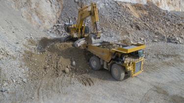 kavics bánya építőipar markoló munkagép