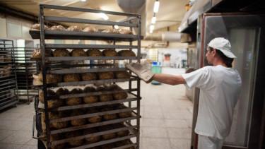 Kenyerek egy magyarországi pékségben