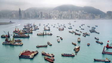 kína hongkong kikötő