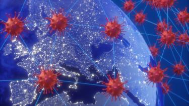 koronavírus európa térkép járvány