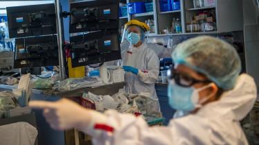 koronavírus intenzív osztály kórház járvány