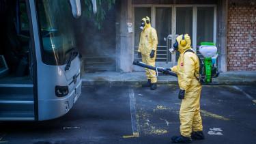 koronavírus járvány fertőtlenítés