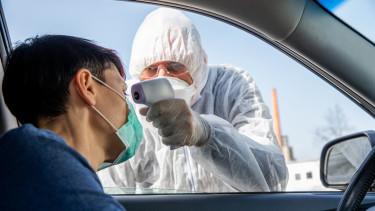 koronavírus járvány hőmérés