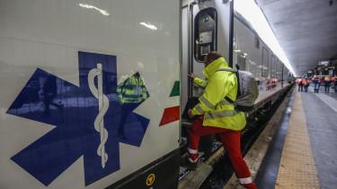 koronavírus járvány olaszország vonat
