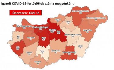 koronavirus magyar terkep 0801