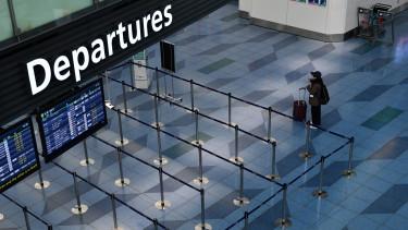 Koronavírus repülőtér