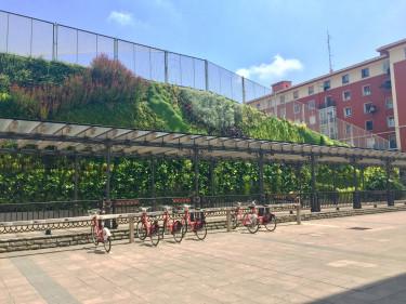 Kültéri zöldfal a spanyolországi Bilbaoban