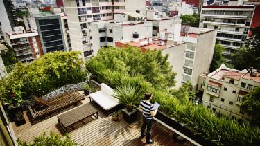 lakások terasz zöld