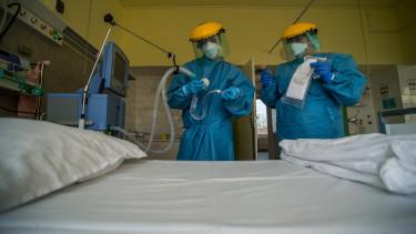 lélegeztetőgép koronavírus járvány hullám