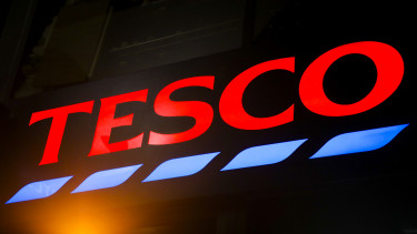 Logo of Tesco is pictured in the street of London, United Kingdom, on 11 December, 2019.