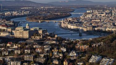Madártávlat Budapest és Duna