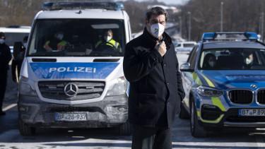Markus Söder bajor miniszterelnök a német-cseh határon