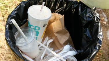 mcdonald's műanyag egyszer használatos szívószál