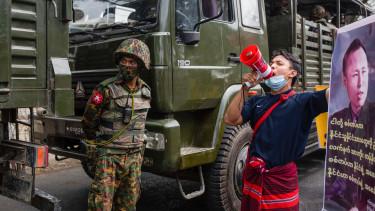 mianmar burma puccs tunteto rendorseg katonasag