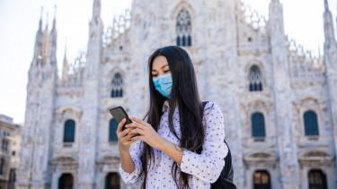 milano olaszország maszk koronavírus
