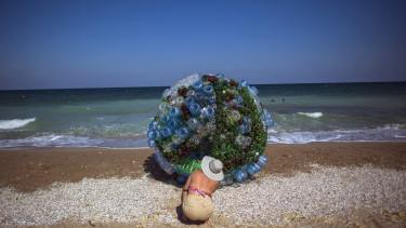Műanyag szemét hulladék óceán tenger