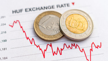 Negative trends in Hungarian forint euro exchange rate