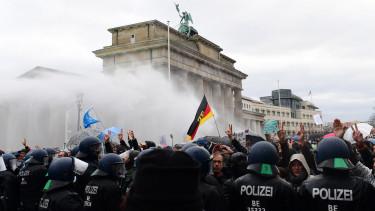 németország járvány koronavírus tüntetés korlátozó intézkedések ellen