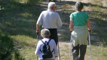 nyugdíjas sétál