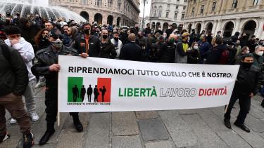 olasz koronavírus járvány tüntetés