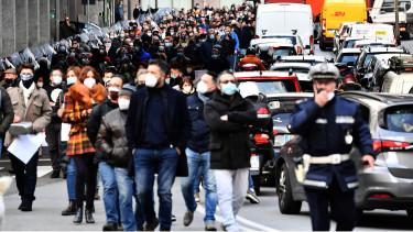 olaszország tüntetés