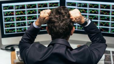 összeomló piac ideges vagyonkezelő