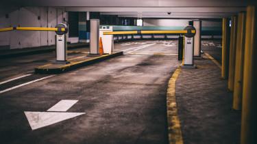 parkolóház sorompó