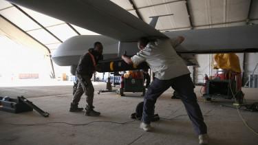 predator drone hellfire rakéta bombázás légi támogatás
