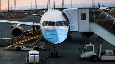 repülő koronavírus maszk