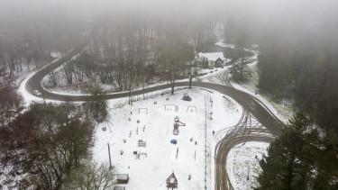 salgótarján havazás hó téli táj időjárás