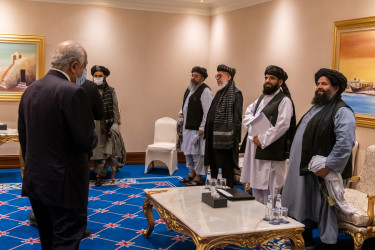 Secretary_Pompeo_Meets_with_the_Taliban_Negotiation_Team_(50632321483)