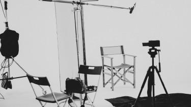 stúdió forgatás kamera