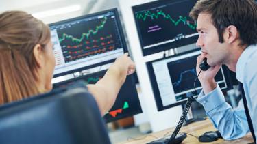 trader kereskedő bróker számítógép chart