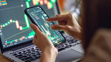 trader nő chart részvény