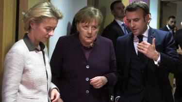 Ursula von der Leyen Angela Merkel Emmanuel Macron globalis adomanyozoi konferencia koronavirus Portfolio velemenycikk 200503