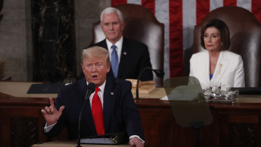 U.S. President Donald Trump, delivers a State of the Union