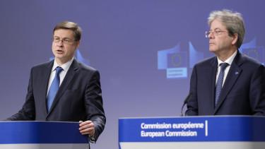 Valdis Dombrovskis Paolo Gentolini Europai Bizottsag stabilitasi novekedesi egyezmeny