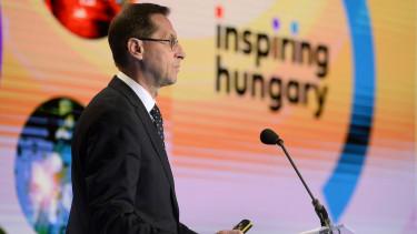 Varga Mihaly magyar GDP adat sajtotajekoztato