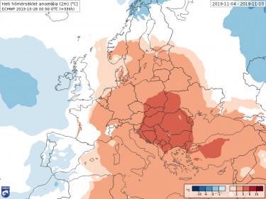 Várható hőmérséklet nov 4-10