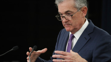WASHINGTON, DC - JULY 31: Federal Reserve Board Chairman Jerome Powell speaks  (Photo by Mark Wilson/Getty Images)