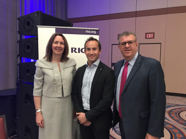 With former RICS President Amanda Clark and RICS CEO Sean Tompkins