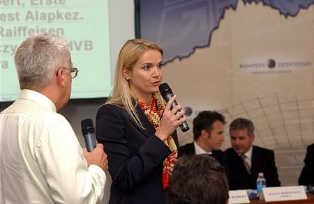 Barbara Wösner, a Wiener Börse által delegált BÉT ig. tag hozzászól