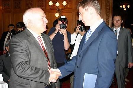 Sugár András (T-Mobile) és Gyurcsány Ferenc