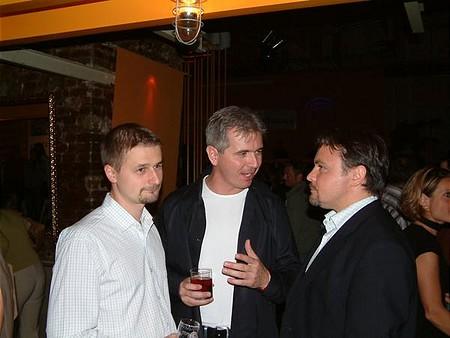 Szalay-Berzeviczy Attila, a BÉT elnöke és Benke Ákos, a Corvinus vezérigazgatója, a CA-IB Értékpapír Rt. utolsó vezérigazgatója