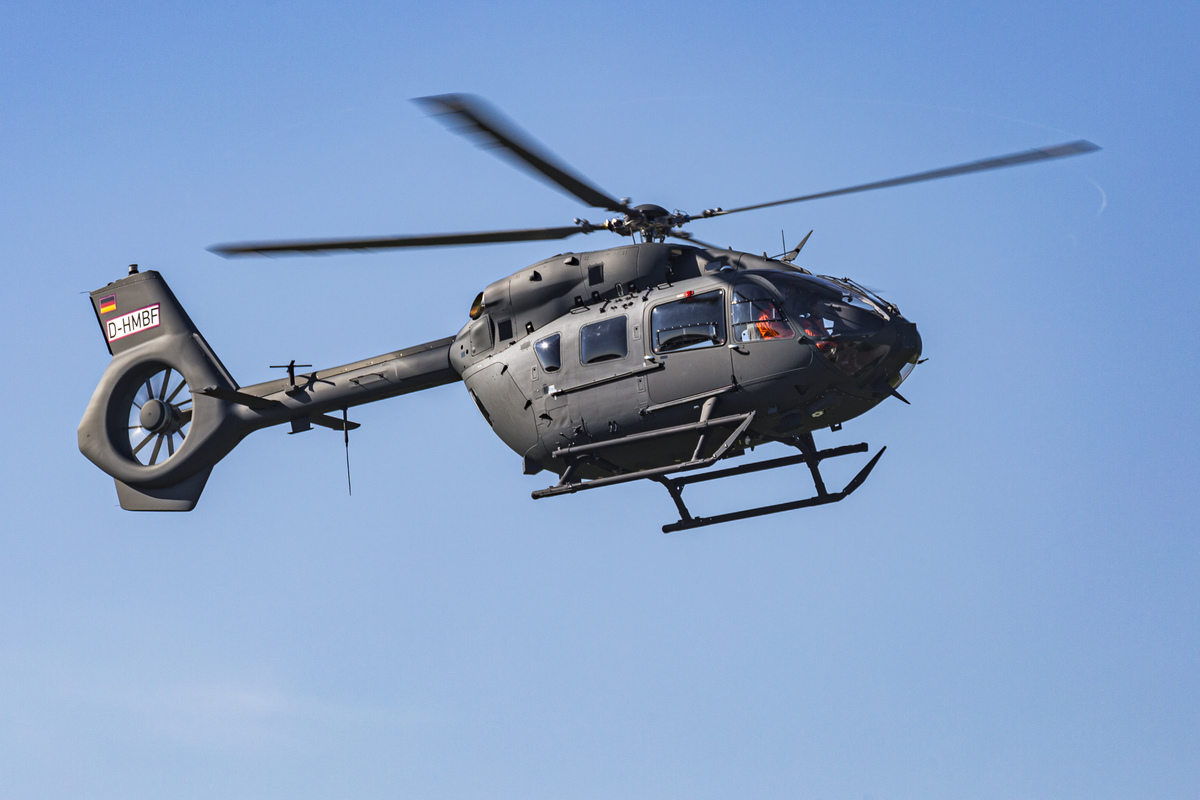 Ez a gép már készen van, a D-HMBF átmeneti lajstromjelű helikopter lesz a második H145M, amit a Honvédség megkap. Fotó: Christian Keller, Airbus Helicopters