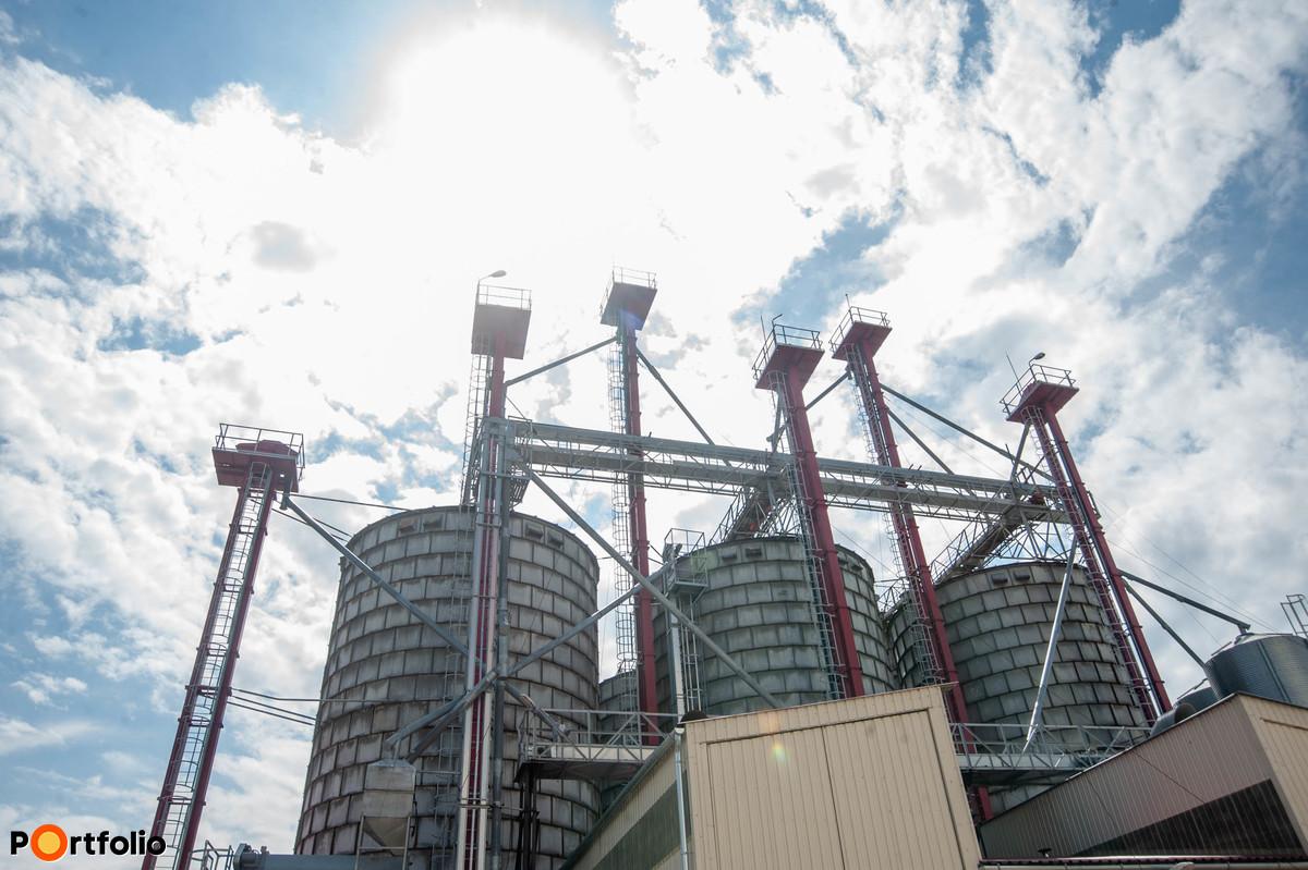 A gabona egy része 10 fokra lehűtve várja a felhasználást.