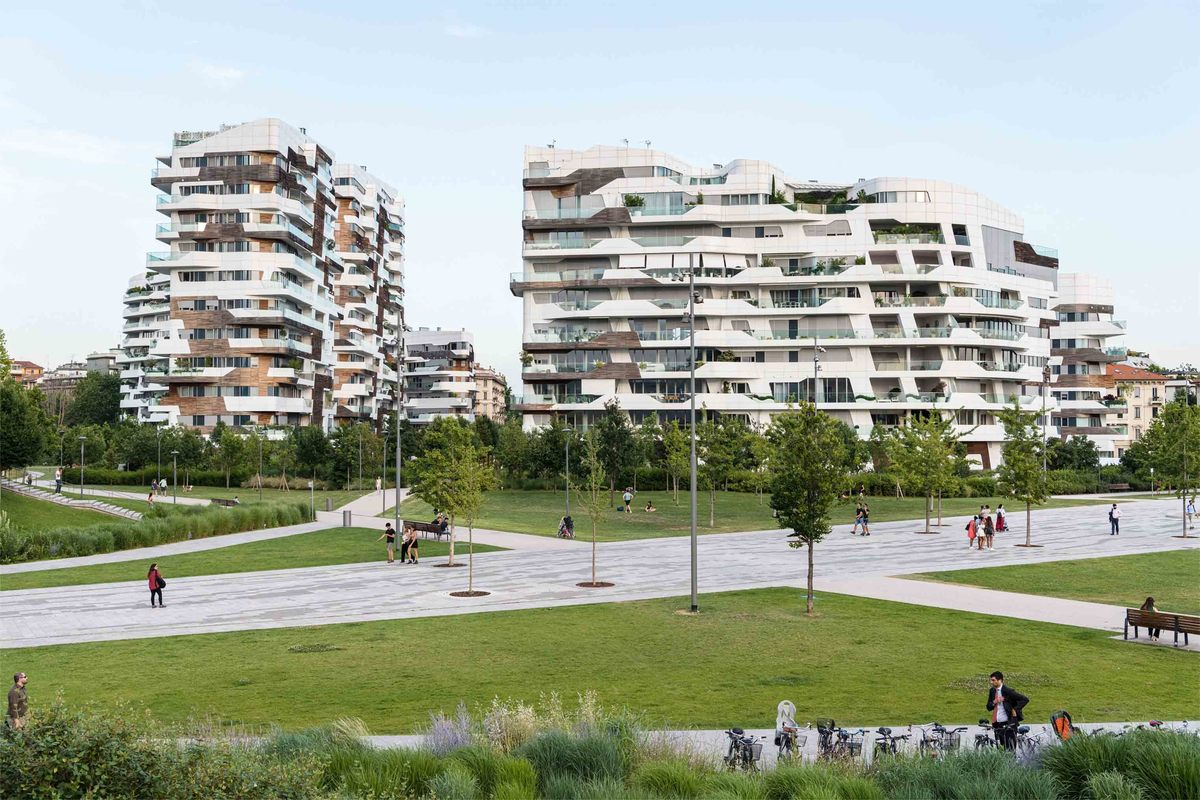 Milánó City Life Zaha Hadid lakóépületek