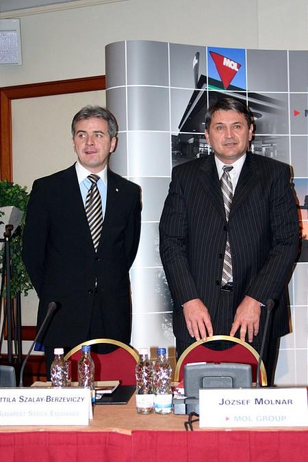 Szalay-Berzeviczy Attila, BÉT elnök - Molnár József, MOL CFO