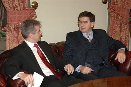 A tőzsde elnöke Veres János pénzügyminiszterrel