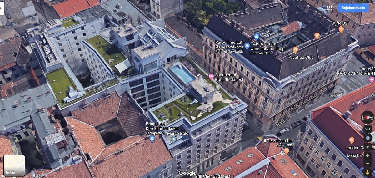 VII., Dohány utca - Nyár utca, Forrás: Google Maps